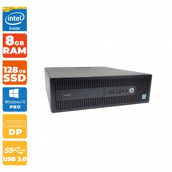 HP ProDesk 600 G2 SFF PC Intel i5- 6.Gen   8GB RAM DDR4   128GB SSD