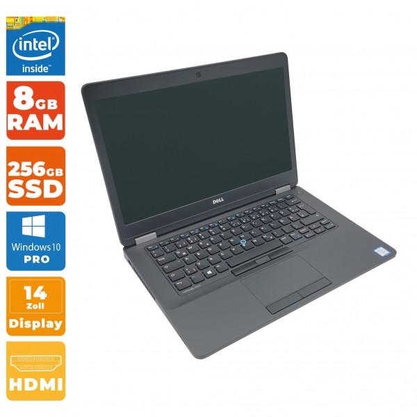 Dell Latitude E5470 Notebook B-Ware | Intel i5- 6.Gen CPU | 8GB DDR4 RAM | 256GB SSD | Full-HD