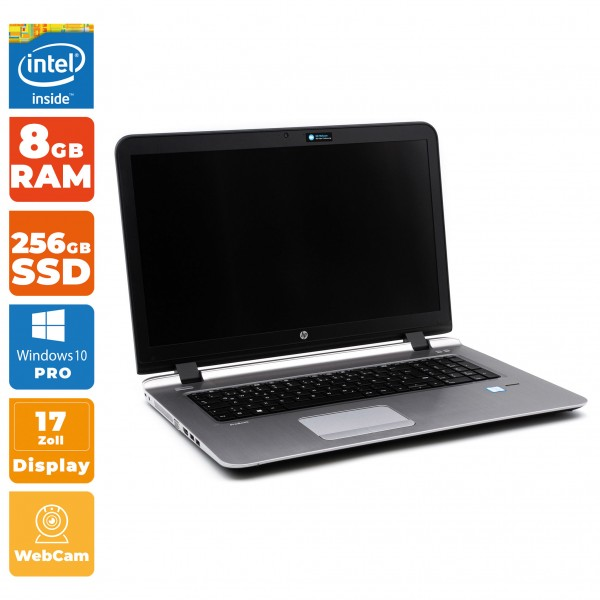 HP ProBook 470 G3 Notebook Intel i3- 6.Gen | 8GB RAM | 256GB SSD
