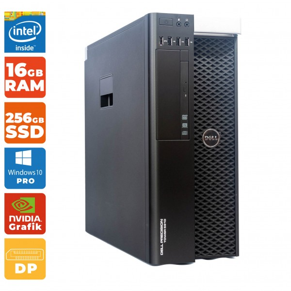 Dell Precision Tower 5810 Intel Xeon E5-1620 v3 | 16GB DDR4 | 256GB SSD + 500GB HDD