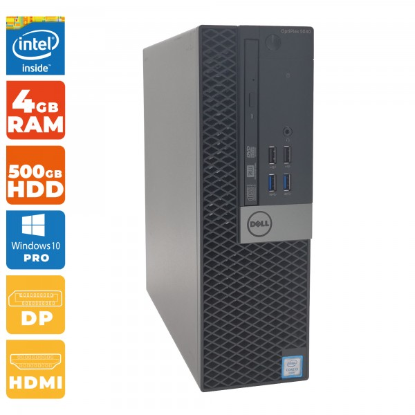 Dell Optiplex 5040 SFF Intel i3- 6.Gen   4GB DDR3   500 GB HDD