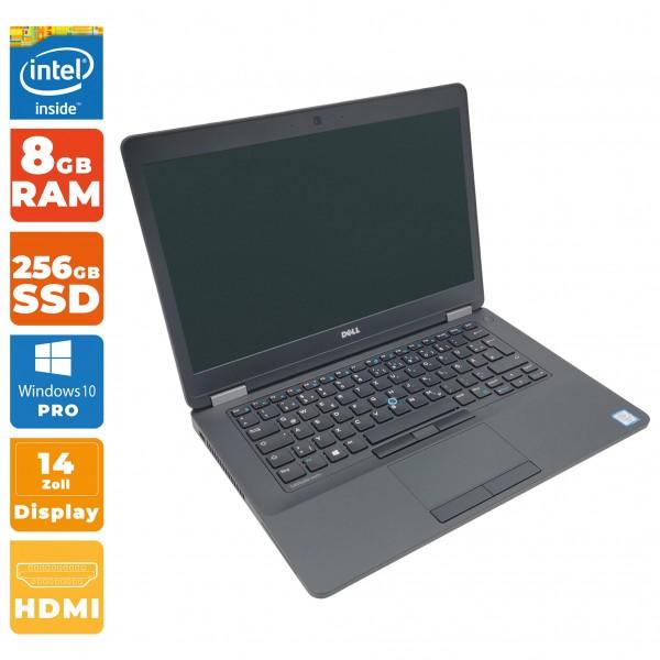 Dell Latitude E5470 Notebook | Intel i5- 6.Gen CPU | 8GB DDR4 RAM | 256GB SSD | inkl. Dockingstation