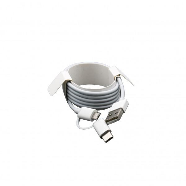 Xiaomi Mi 2-in-1 USB kabel (USB Typ-A zu Micro USB & Typ C) 100cm