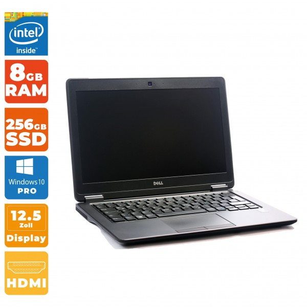 Dell Latitude E7250 Intel i5- 5.Gen | 8GB RAM | 256GB SSD