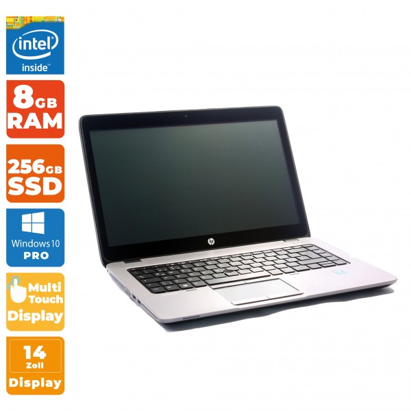 HP EliteBook 840 G1 Notebook | Intel i5-5. Gen | 8GB RAM | 256GB SSD + Touch