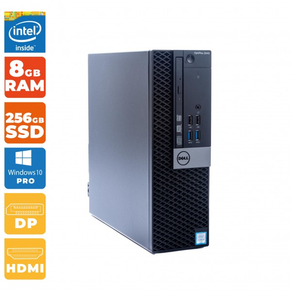 Dell OptiPlex 3040 SFF Intel Core i3- 6.Gen | 8GB DDR3 RAM | 256 GB SSD