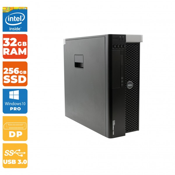 Dell Precision T3610 Intel Xeon E5-1607 V2 | 32GB RAM | 256GB SSD