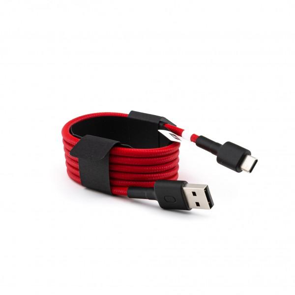 Xiaomi Mi USB Typ-C Kabel geflochten 100cm (Rot)